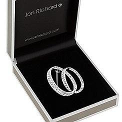 Jon Richard - Pave double circle brooch