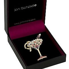 Jon Richard - Gold crystal cocktail glass brooch