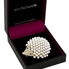Jon Richard - Gold pearl hedgehog brooch