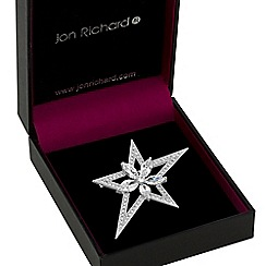 Jon Richard - Silver crystal star brooch