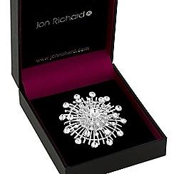 Jon Richard - Silver crystal starburst brooch