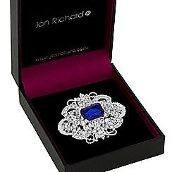Jon Richard - Silver crystal baroque statement brooch