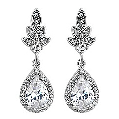 Jon Richard - Leaf and pear drop earrings
