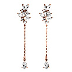Jon Richard - Rose gold chain drop earring