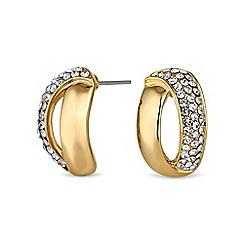 Jon Richard - Gold open half hoop earring