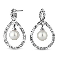 Alan Hannah Devoted - Grace pearl and cubic zirconia earrings