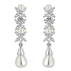 Alan Hannah Devoted - Aurora pearl and cubic zirconia earrings