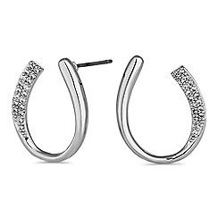 Jon Richard - Silver infinity loop earrings