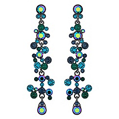 Jon Richard - Tonal green statement earrings made with Swarovski crystals