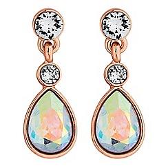 Jon Richard - Crystal charm drop earrings made with Swarovski crystals