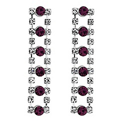 Jon Richard - Crystal diamante drop earrings