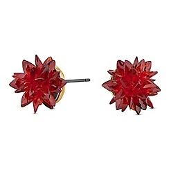 Jon Richard - Crystal shard floral stud earrings