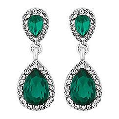 Jon Richard - Crystal pear drop earrings