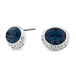 Jon Richard - Oval stud earrings created with Swarovski crystals