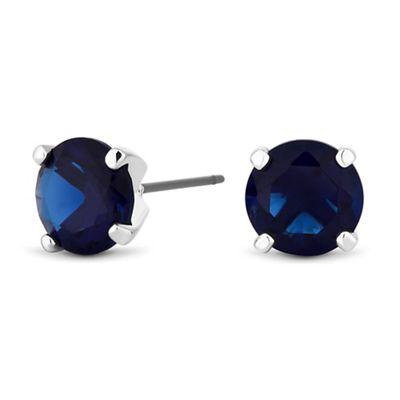 jon richard blue cubic zirconia stud earrings