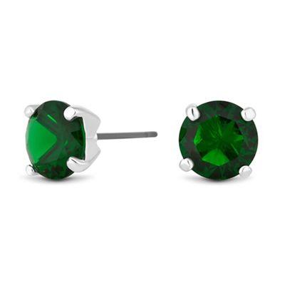 jon richard green cubic zirconia stud earrings