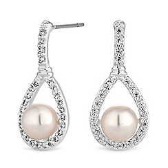 Jon Richard - Peardrop pearl drop earrings
