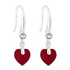 Jon Richard - Heart drop earring created with Swarovski crystals