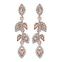Jon Richard - Blush pink crystal floral earrings