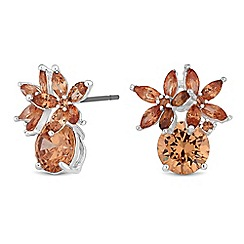 Jon Richard - Cubic zirconia cluster stud earrings