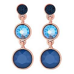 Jon Richard - Graduated circle drop earring created with Swarovski crystals