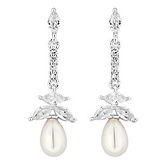 Alan Hannah Devoted - Magnolia cubic zirconia pearl drop earrings