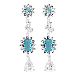Alan Hannah Devoted - Enchanted blue clara drop earrings