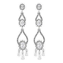 Alan Hannah Devoted - Designer crystal halo statement earrings