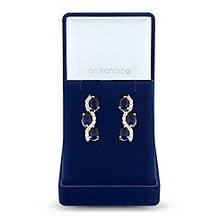 Jon Richard - Cubic zirconia wave earrings