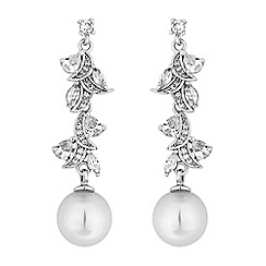 Alan Hannah Devoted - Designer navette twist pearl drop earrings