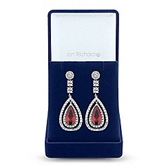 Jon Richard - Cubic zirconia peardrop earrings in a gift box