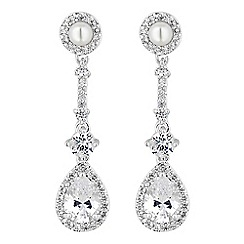 Alan Hannah Devoted - Designer halo peardrop earrings