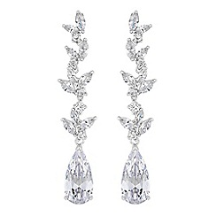 Alan Hannah Devoted - Lily cubic zirconia pear drop earrings