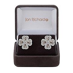 Jon Richard - Cubic zirconia clover leaf earrings
