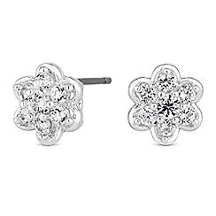 Jon Richard - Cubic zirconia flower stud earrings