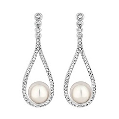 Jon Richard - Open peardrop pearl earrings