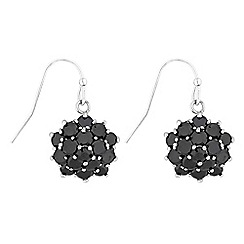 Jon Richard - Jet crystal cluster earrings