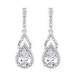 Jon Richard - Cubic zirconia peardrop earrings