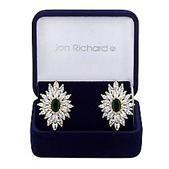 Jon Richard - Cubic zirconia burst earrings