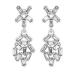 Jon Richard - Crystal cluster drop earrings