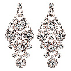 Jon Richard - Statement ornate diamante drop earrings