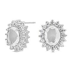 Jon Richard - Cubic zirconia halo earrings