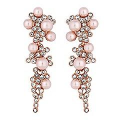 Jon Richard - Blush pink pearl drop earrings