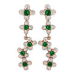 Jon Richard - Floral cubic zirconia drop earrings