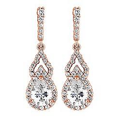 Jon Richard - Cubic zirconia pear drop earrings