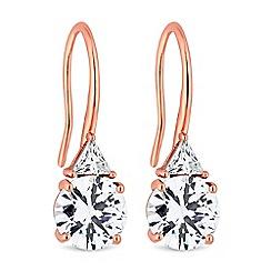 Jon Richard - Cubic zirconia drop hook earrings