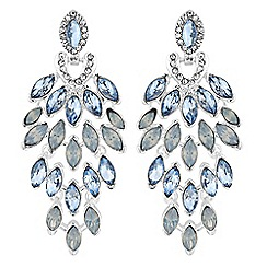 No. 1 Jenny Packham - Designer crystal feather drop earrings