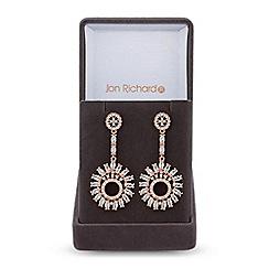 Jon Richard - Cubic zirconia sunflower drop earrings