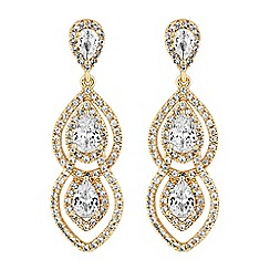 Jon Richard - Cubic zirconia linked pear drop earrings