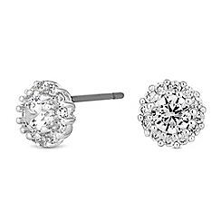 Jon Richard - Cubic zirconia halo stud earrings